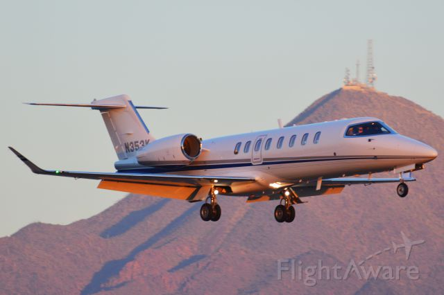 Bombardier Learjet 75 (N353K) - Also flies as DZR353.br /br /Flies as a LJ75 (so Im going to assume it is a LJ75), however FAA data shows it as a LJ45. The new winglets also lead me to believe its a 75.br /br /If Im wrong, please correct me.
