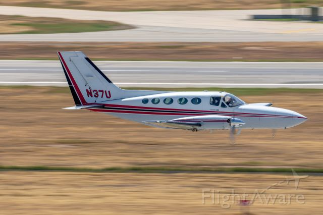 Cessna Chancellor (N37U) - From the tower