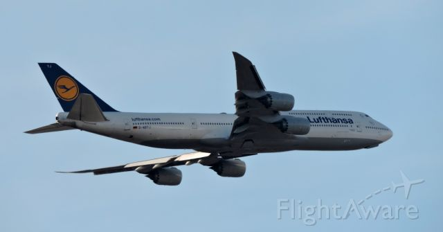 BOEING 747-8 (D-ABYJ) - Minutes before landing, Feb. 2019.
