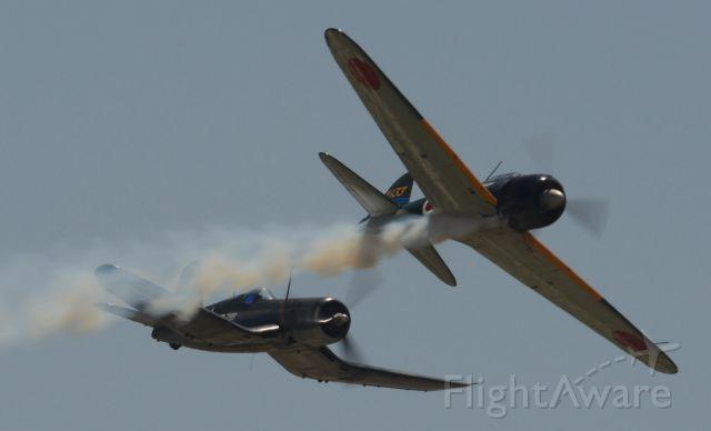 — — - F4U-1A Corsair & A6M3 Zero
