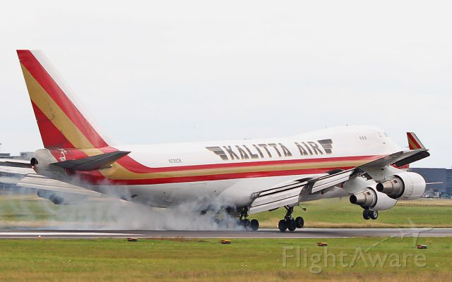 Boeing 747-400 (N700CK) - kalitta air b747-4r7(f) n700ck landing at shannon 5/8/18.