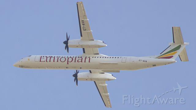 de Havilland Dash 8-400 (ET-AVA) - ET-AVA departed HAAB Eastbound