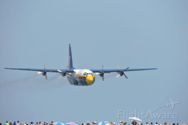 "Lockheed C-130 Hercules — - ""Fat Albert"" low over Pensacola Beach, Fl."