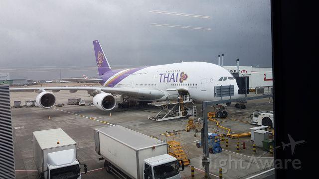 Airbus A380-800 (HS-TUF) - Preparing for takeoff, to BKK.