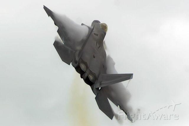 Lockheed F-22 Raptor — - F-22 demo during bad wx.