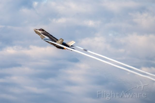 Lockheed F-35C (17-5238) - The first Lockheed Martin test flight of the day, F-35A AF-180, departs NAS Fort Worth JRB in spectacular fashion, climbing unrestricted and in full afterburner at 9:05 AM.