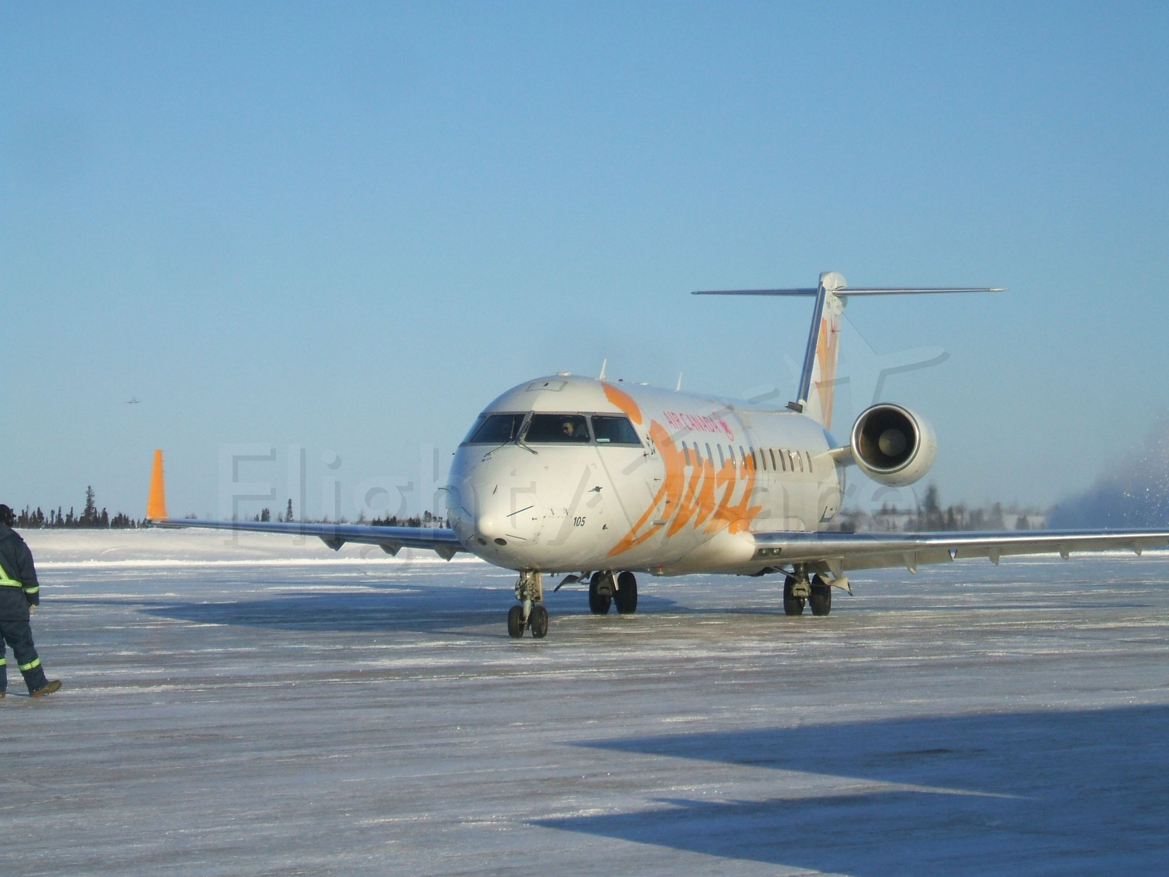 Canadair Regional Jet CRJ-200 (C-FSJF) - Jazz departing for Halifax NS. Jan 18/ 9