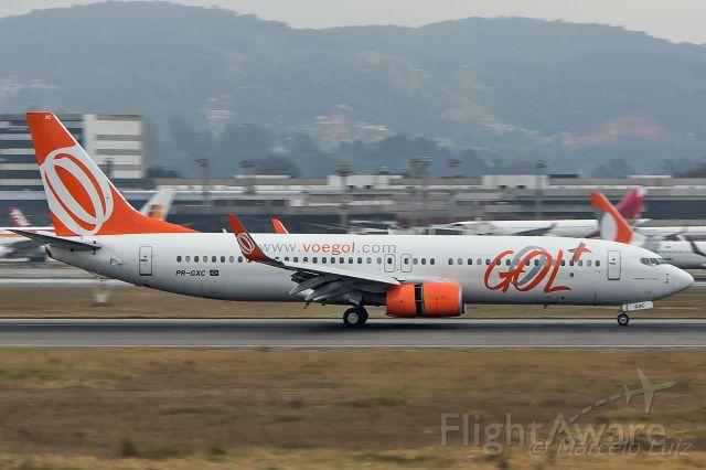 Boeing 737-700 (PR-GXC) - GOL Transportes Aereos - Boeing 737-8EH<br />Registration: PR-GXC<br /><br />Porto Seguro (BPS) / Sao Paulo (GRU)<br /><br />Fotografia: Marcelo Luiz