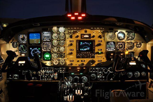 Beechcraft Super King Air 200 (N418DN) - King Air 200, Serial Number BB1130.  Panel shot taken at night.