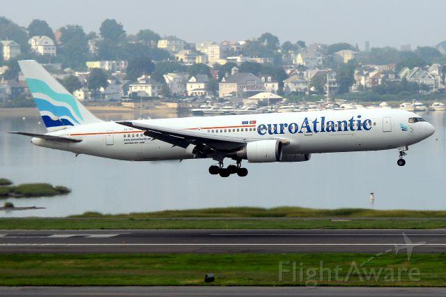 BOEING 767-300 (CS-TKS) - Euro Atlantic running as a sub for TACV  690 from Praia, Cape Verde