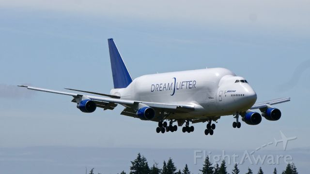 Boeing Dreamlifter (N747BC) - GTI4151 from NGO to PAE on final to Rwy 34L on 6.3.20. (B747-4J6(BLCF) / ln 904 / cn 25879).