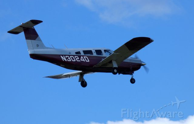 Piper Lance 2 (N3024D) - On final is this 1978 Piper Lance 2 PA-32RT-300T in the Autumn of 2019.