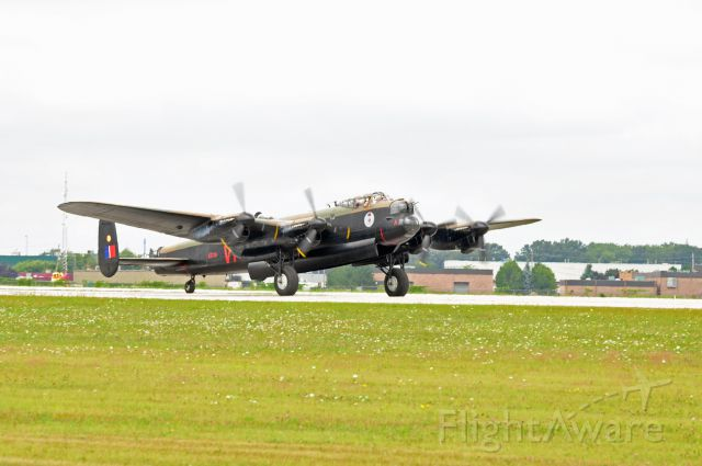 — — - Lancaster Heavy Bomber photographed at the 2009 Windsor International Airshow.