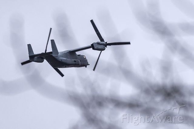 Bell V-22 Osprey — - A Bell V-22 Osprey departing KOQN.