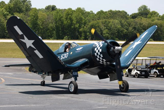 VOUGHT-SIKORSKY V-166 Corsair (N9964Z) - Wings were folding up while taxiing at the Atlanta Air Show 2021. Photo taken on 5/22/2021.