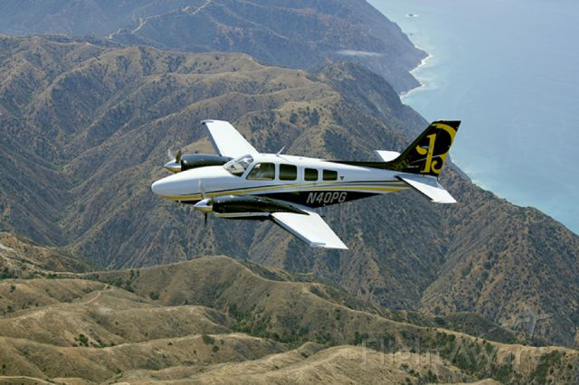 Beechcraft Baron (58) (N40PG) - Over Catalina Island