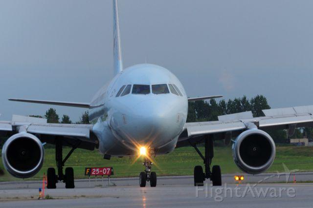 Airbus A320 (C-FFWN) - Turning off Rwy 07 after a flight from Toronto (YYZ/CYYZ)