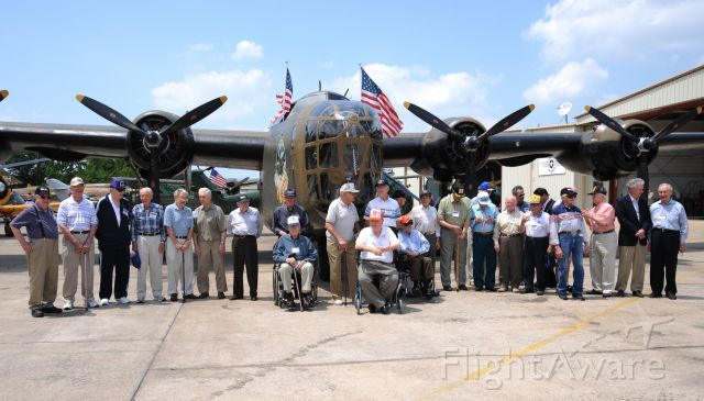 Consolidated B-24 Liberator (N24927) - Commemorative Air Force B-24, located in Addison, TX, Cavanaugh Flight Museum. Here with 30 of her WWII friends
