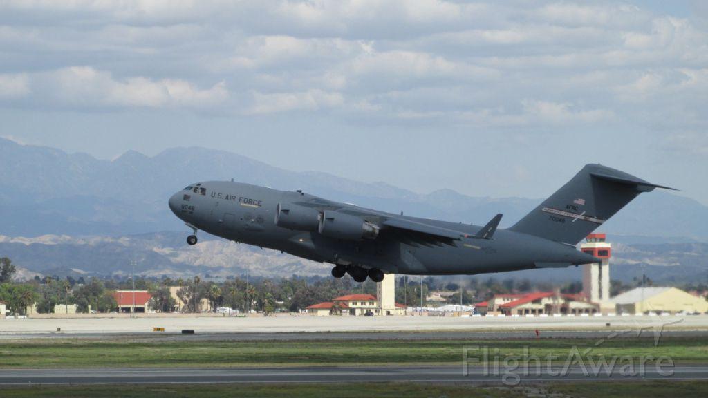 Boeing Globemaster III (N70048) - C-17 tke ff from March Air Reserve Base, Riverside, California