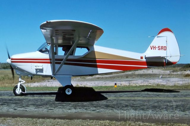 Piper PA-22 Tri-Pacer (VH-SRD) - PIPER PA-22-108 COLT - REG : VH-SRD (CN 22/9516 - CALOUNDRA QLD. AUSTRALIA - YCDR 913/9/1992) 35MM SLIDE SCANNED AT 6400 DPI WITH A EPSON V700 PERFECTION FLATBED SCANNER.