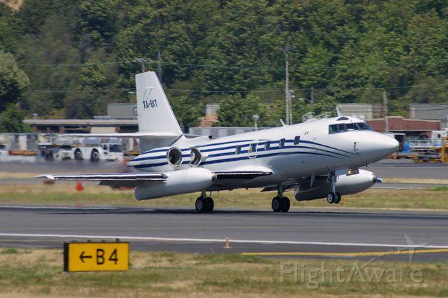 Lockheed Jetstar 8 (XA-EKT) - Lockheed L-1239 Jetstar seen taking off from Seattle