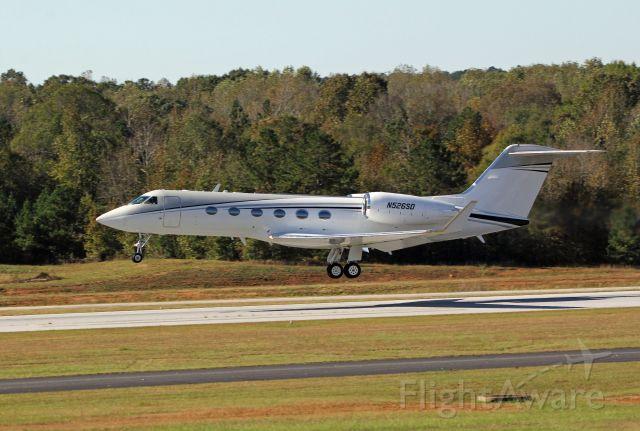 Gulfstream Aerospace Gulfstream IV (N526SD) - A Gulfstream G-IV based out of North Carolina takes off on runway 13 at Falcon Field-Atlanta Regional Airport in Peachtree City, Ga.