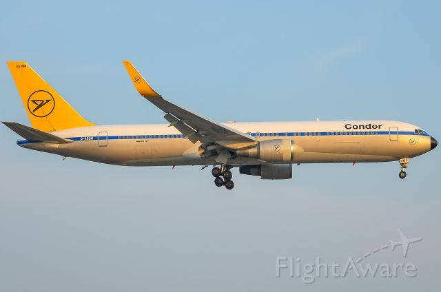 BOEING 767-300 (D-ABUM) - Here is the beautiful Condor 767-300ER in the retro livery on final for 23 on August 27, 2018