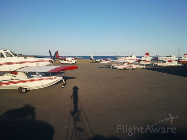 N8512L — - Fire Fighting task force staging out of Kotzebue Alaska (OTZ / PAOT) in June 2012. Three Air Tractor 802F