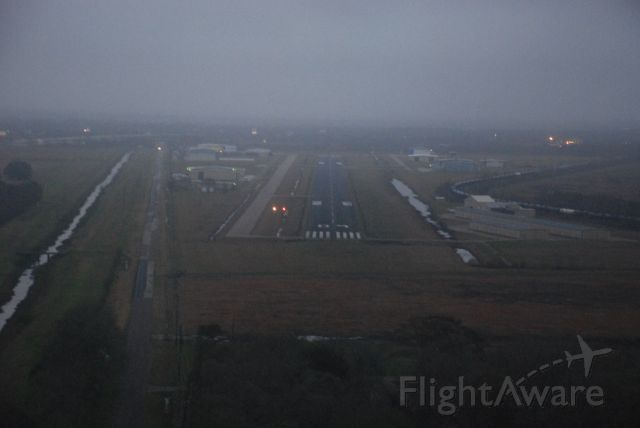 — — - Landing at dusk at minimums on the GPS approach