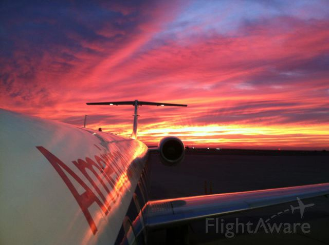 Embraer ERJ-145 — - Another beautiful sunset at Hector International in Fargo.