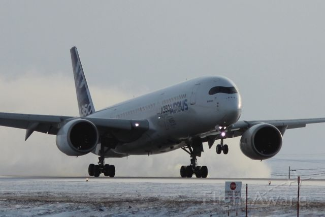 Airbus A350-900 (F-WZGG) - A350-900 LANDING DURING COLD WEATHER TESTING