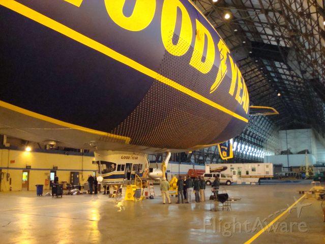 Unknown/Generic Airship (N3A) - Goodyear Blimp Spirit of Goodyear in hangar at Wingfoot Lake blimp base in Akron OH.