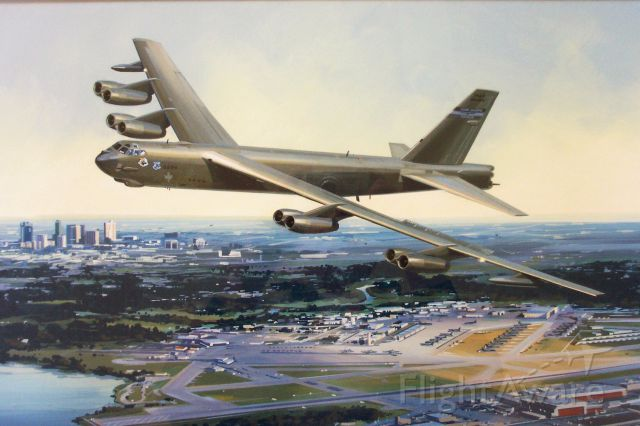 Boeing B-52 Stratofortress — - Carswell AFB 9th Bomb Squadron litho