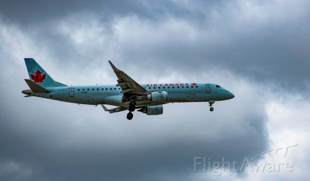 Embraer ERJ-190 (C-FHNP) - Beating the storm - on Final 06.  Going to miss the 190 but looking forward to the C-Series (A220)