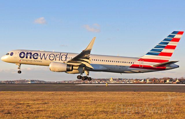 Boeing 757-200 (N174AA) - AA OneWorld special livery landing RWY27 @ KBOS Logan