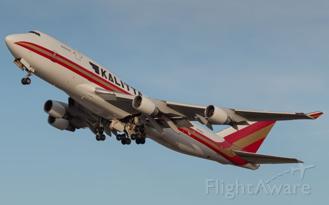 Boeing 747-400 (N709CK) - Connie 247 Heavy departs runway 27 for Anchorage (ANC).