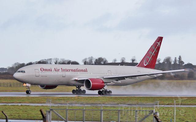 Boeing 777-200 (N819AX) - omni b777-2 n819ax dep shannon 16/1/18.