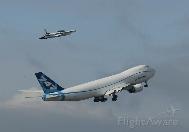 BOEING 747-8 (N747EX) - First Flight 747-8