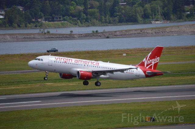 Airbus A320 (N636VA) - Airplane 2.0 departing for KSFO/SFO as VRD801.
