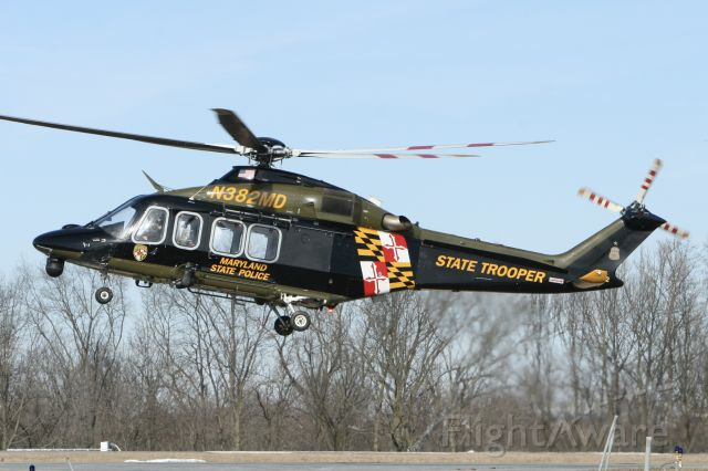 BELL-AGUSTA AB-139 (N382MD) - February 17, 2021 - landed from Hagerstown
