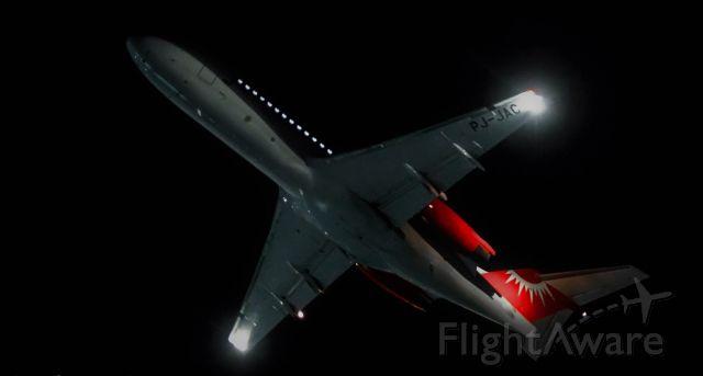 PJ-JAC — - JetAir PJ-JAC seed departing St Maarten for Curacao after sunset!
