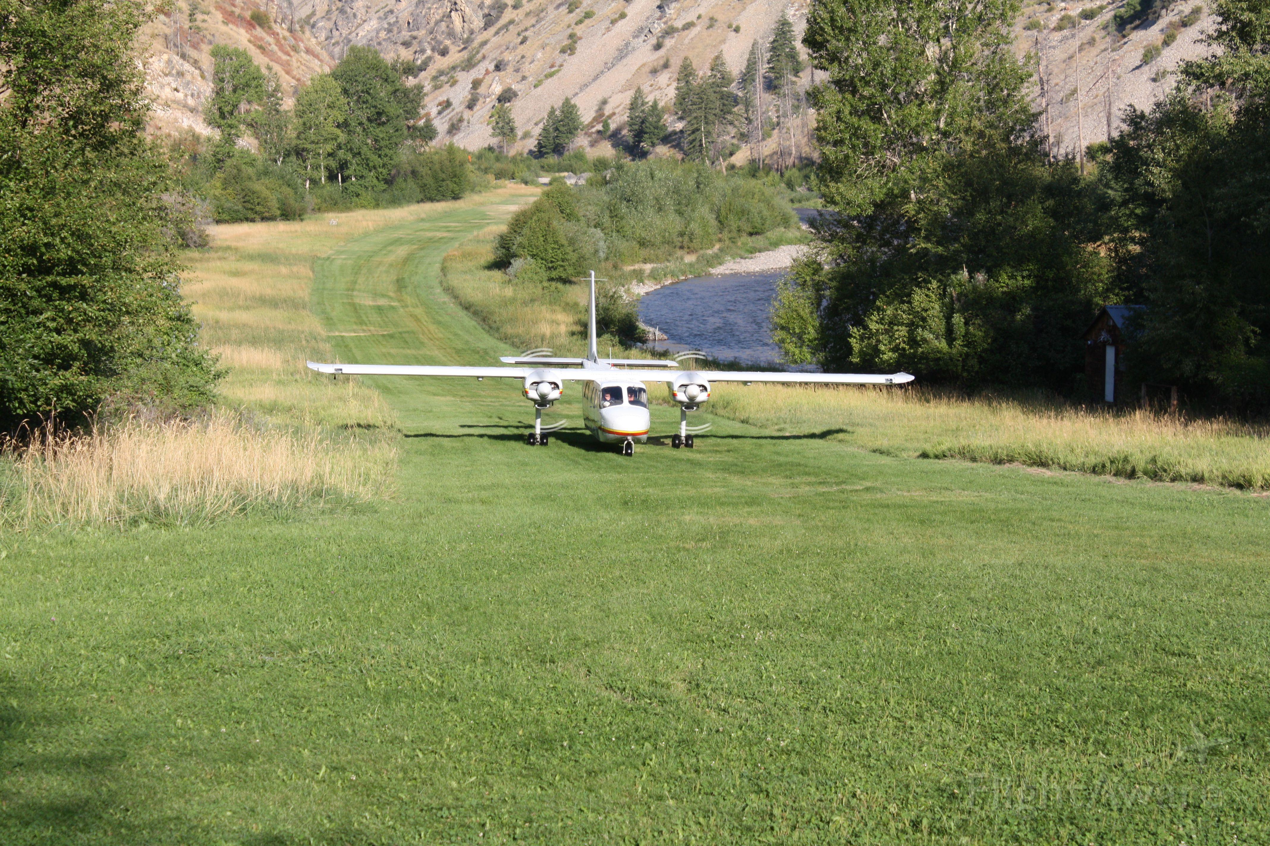 — — - Britten-Norman Islander taxiing at University of Idaho
