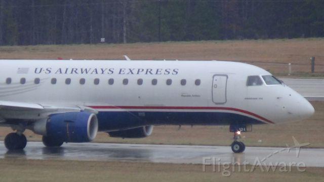 Embraer ERJ 175 (N124HQ) - U.S. Airways (Republic) 4619 departing to Reagan National at 3:40 P.M.  Taken March 19, 2015.