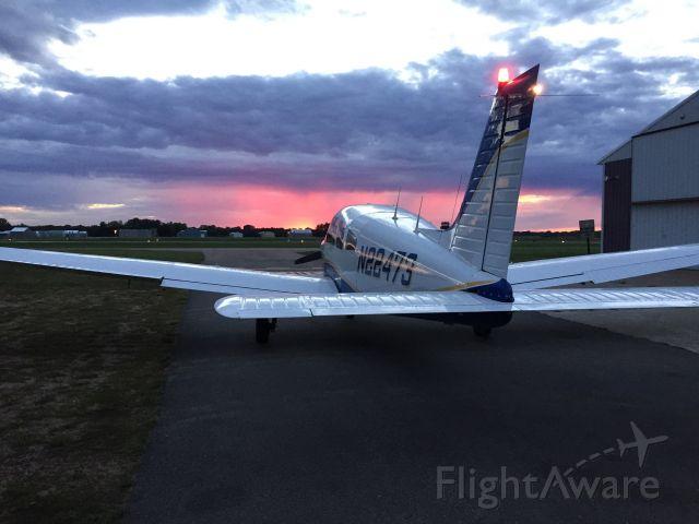 Piper Cherokee (N22473) - Sunset departure