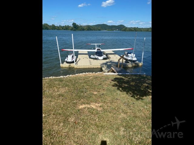 ICON A5 (N162BA) - At our floating dock