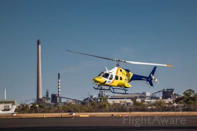Bell 230 (VH-XCW) - Flying in to Mount Isa Airport for training