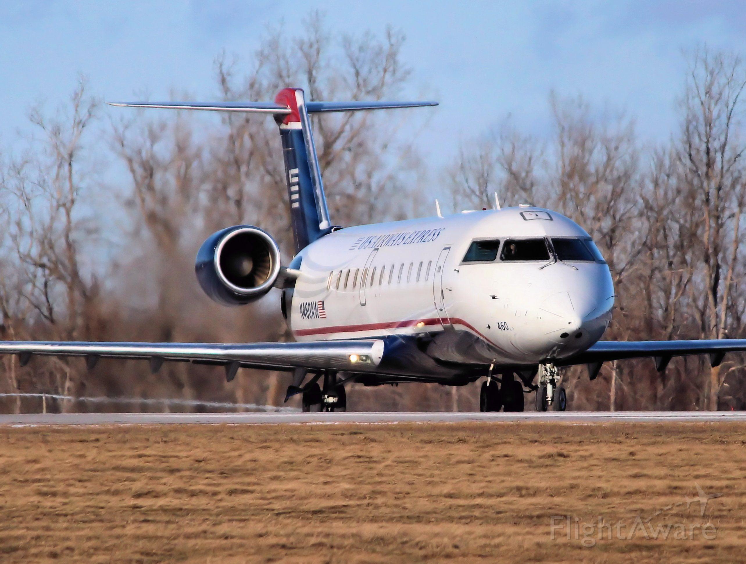 Canadair Regional Jet CRJ-200 (N460AW) - Heading for Philadelphia Intl.