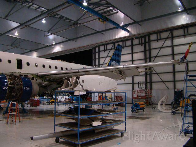 Embraer ERJ-190 — - Embraer 190 Jet Blue getting heavy maintenance done at Embraer in Nashville Tn.
