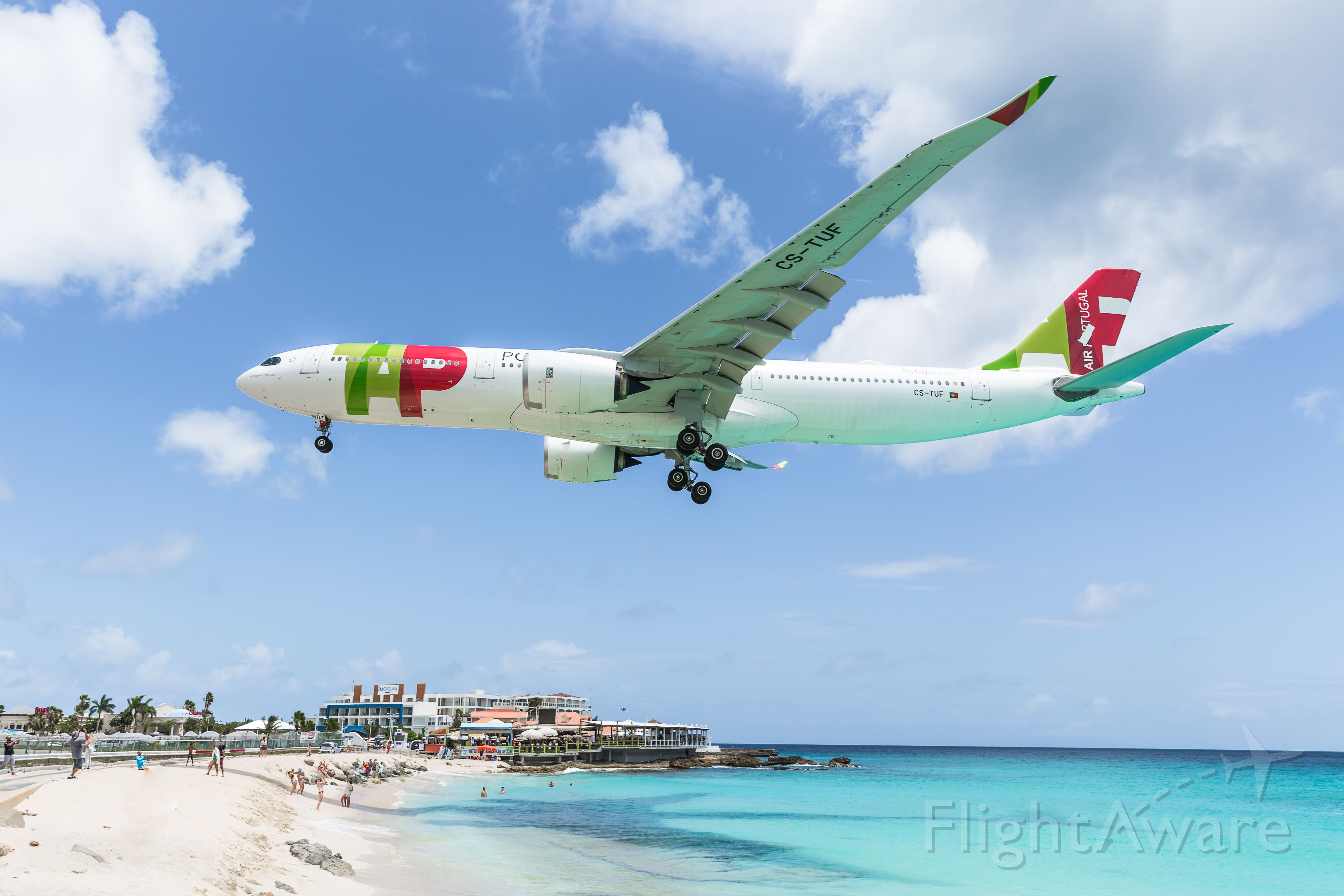 AIRBUS A-330-900 (CS-TUF) - TAP Portugal Airlines Airbus A330-941 Neo CS-TUF for the very first time in history over the maho beach for landing.br /First time for a A330-941 Neo.br /First time for the Portugal Airlines.br /22/07/2021