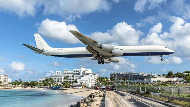 McDonnell Douglas DC-8-70 (OB2158P) - One awesome sight to see this lovely bird over the beach for landing at St Maarten. 05/10/21